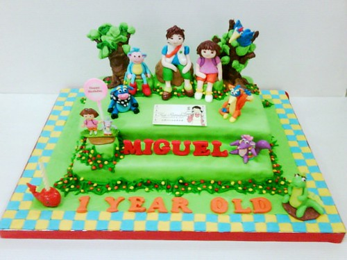 Dora Cake Recipe In English: A Cake With Cartoon Character Powered