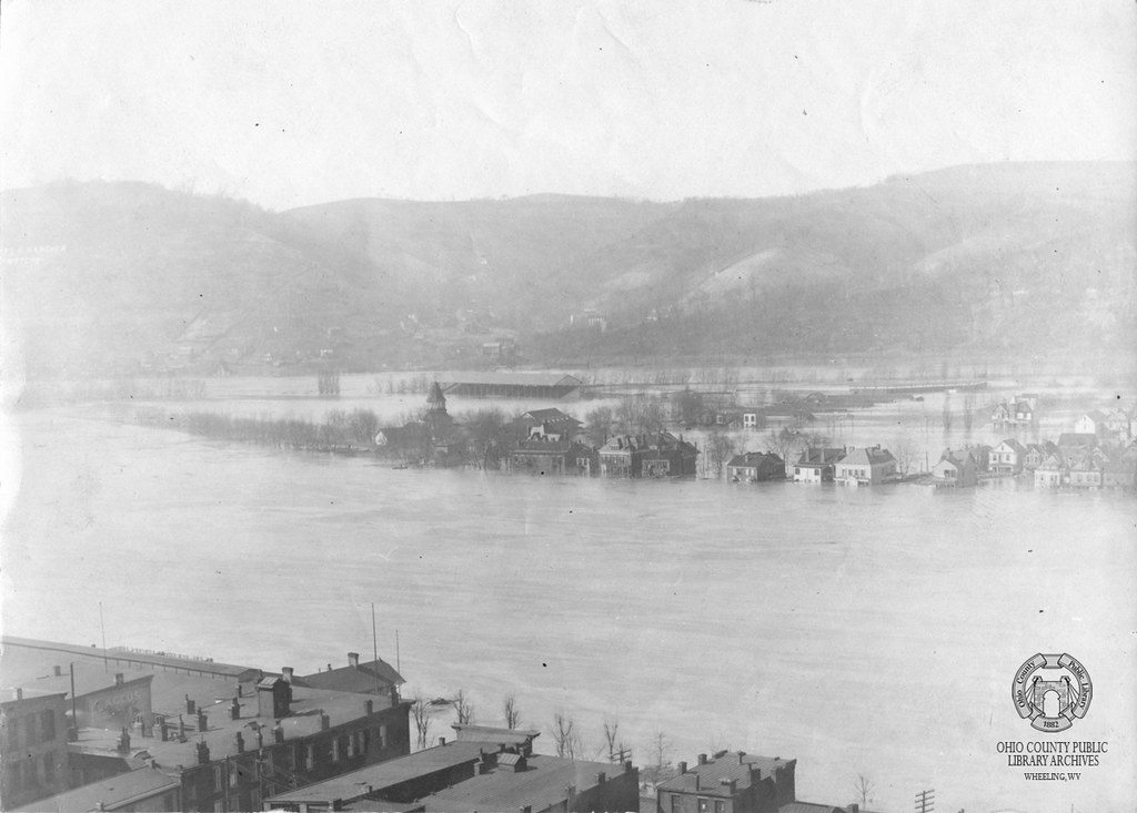 South End Of Wheeling Island Flood Of 1907 Photograph By
