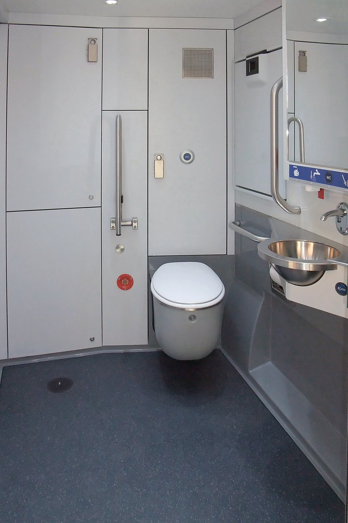 Swiss Sbb Train Toilet Handicapped Accessible Toilet On