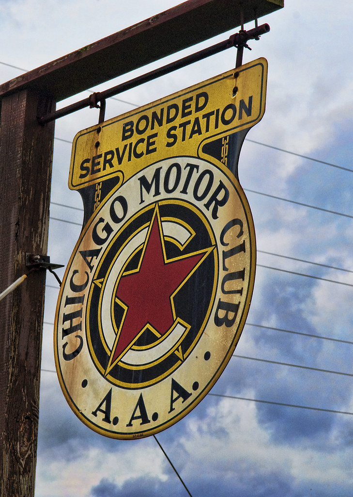 Motor Club Aaa Sign Along Old 66 In Stanton Illinois Thi Flickr