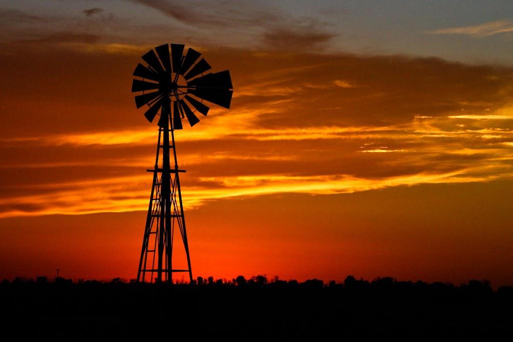 Oklahoma Windmill Sunset Explore Marvin Bredel Flickr