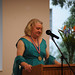 Associate Vice President of Broome Library, Amy Wallace, speaking at the 2009 Celebration of Faculty Accomplishments