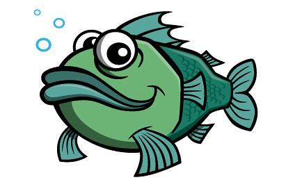 cartoon fish character cartoon fish illustration created f flickr