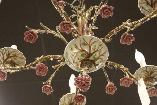 Capodimonte chandelier   Softies Central   Flickr -> Lampadari Antichi Capodimonte