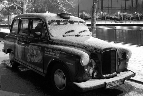 Black cab turns white | by littleblom