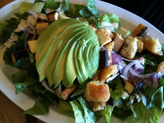 Caesar Salad with Tofu and Avocado at Pure Luck Restaurant | by TheDeliciousLife