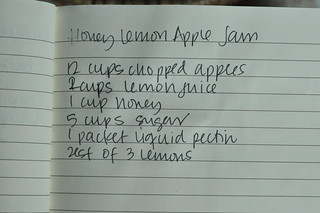 hand written recipe | by Marisa | Food in Jars