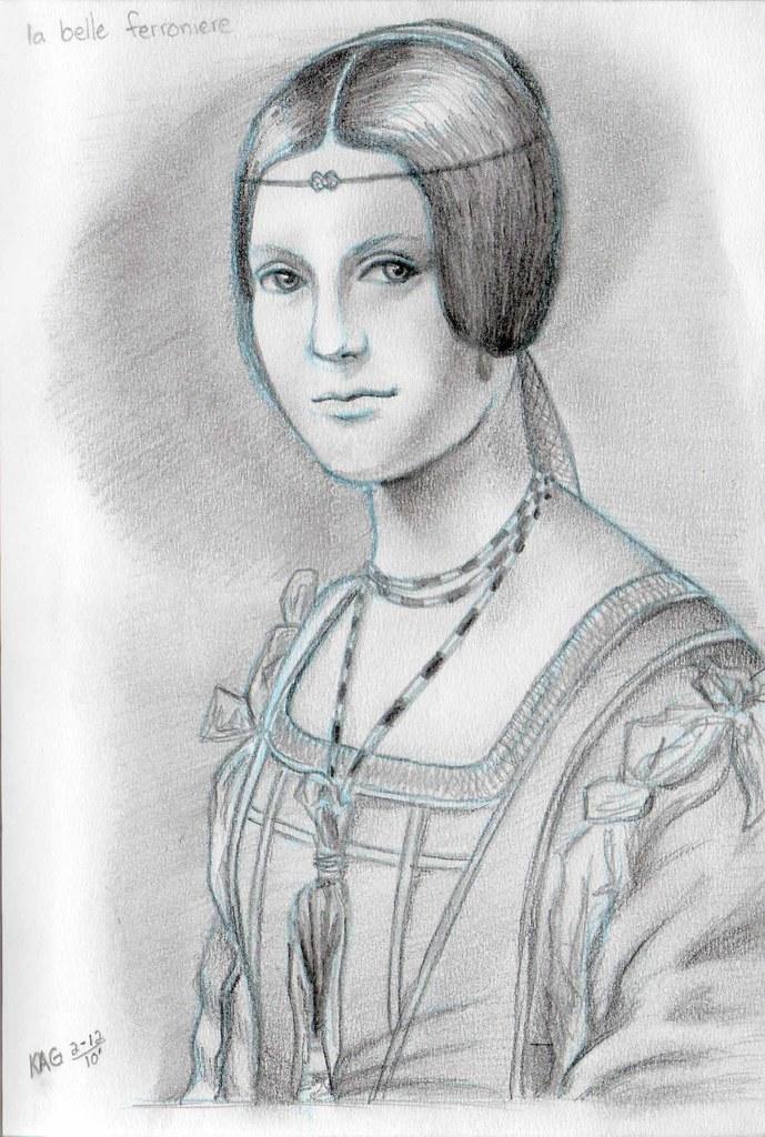 La Belle Ferroniere (sketch)