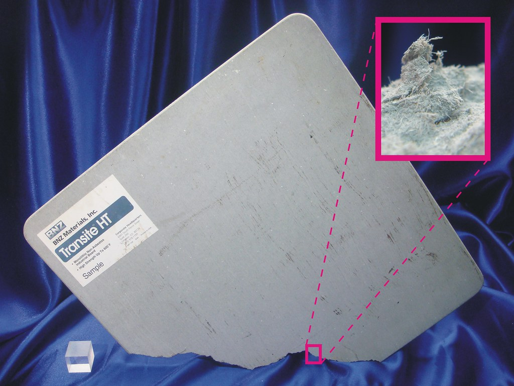 Transite Ht Non Asbestos Labeled Product Sample Of Bnz