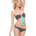 Betsey Johnson Bandeau Swim Top & Bottoms polka dot bikini