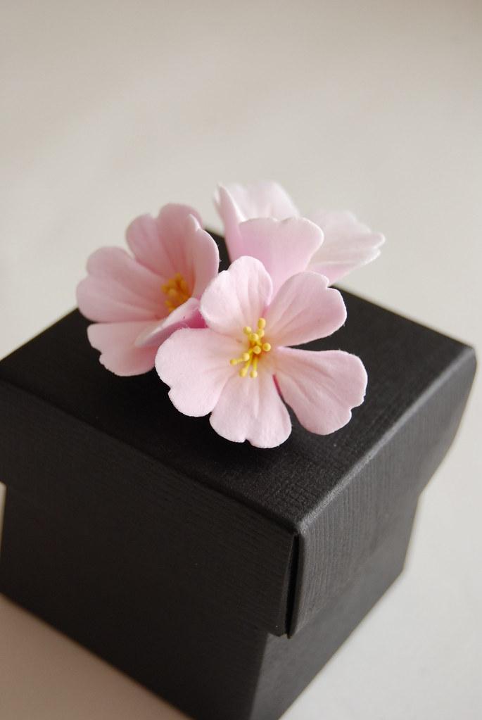 Cherry Blossom Clay Flower Favor Box Cherry Blossoms Are