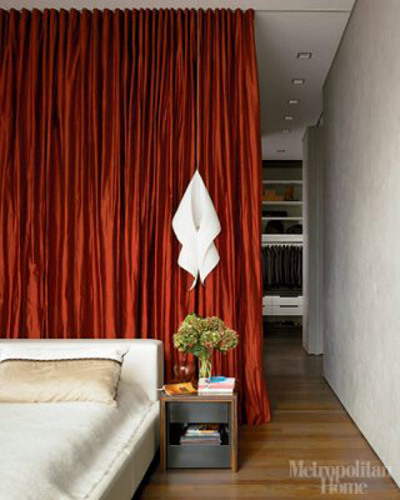 Curtain room divider via at mudrick flickr for Studio apartment curtain divider