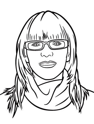 Vector Drawing Lines Review : Avatar portrait illustration vector line art completed
