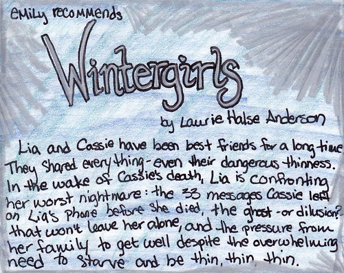 wintergirls by laurie halse anderson essay