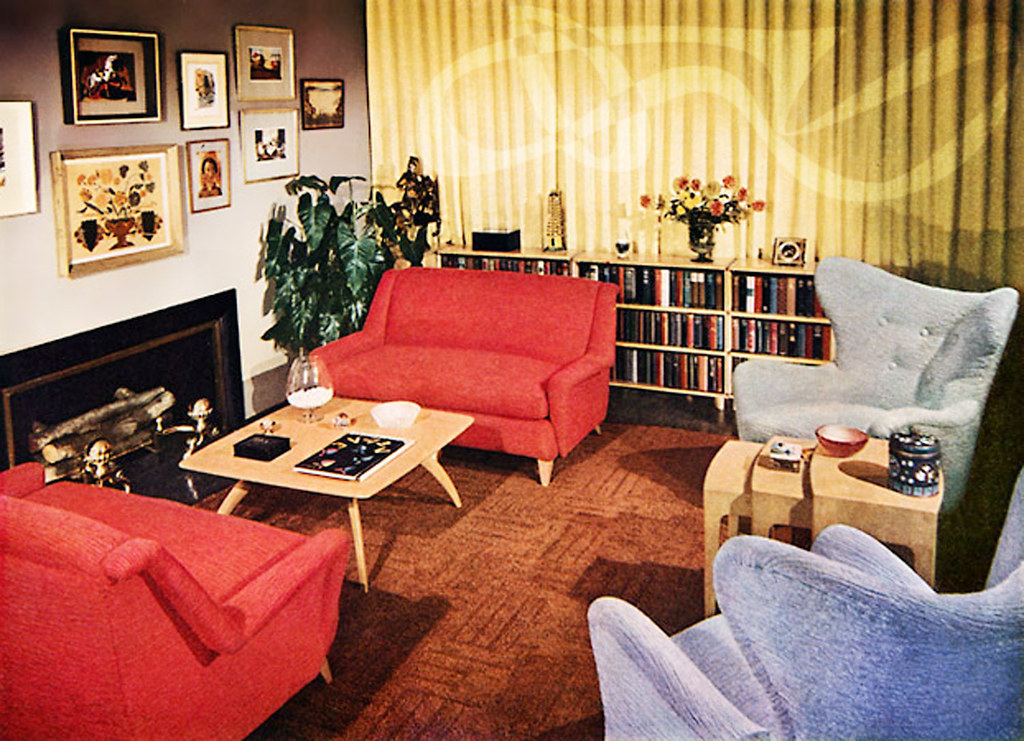 1950 39 S Interior Grab A Red Chair And A Yummy Cocktail