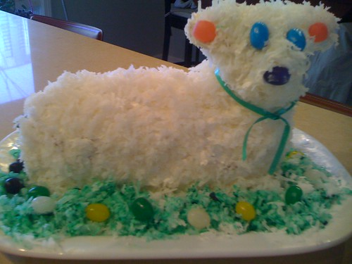 Easter 2010: Lamb Cake! :) | by CateCooks