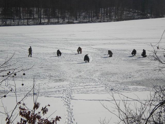 Ice fishing in katonah ny ice fishing on the reservoir for Ice fishing ny