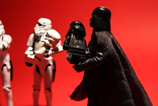 Baby-care lesson with Darth Vader (Vader close-up) | by DocChewbacca