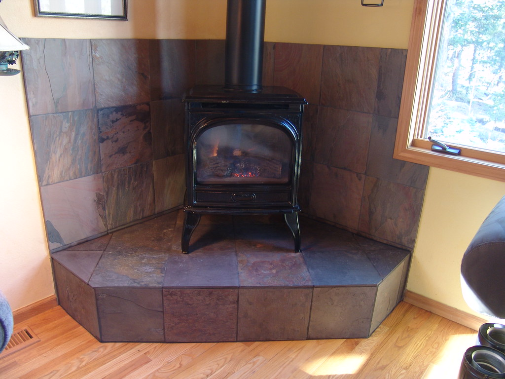 Slate Gas Stove Platform This Tiling Project Was