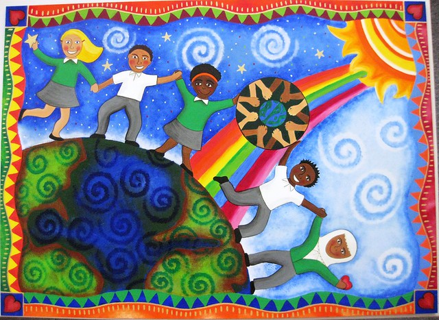 Beckford school mural commission celebration of the for Elementary school mural ideas