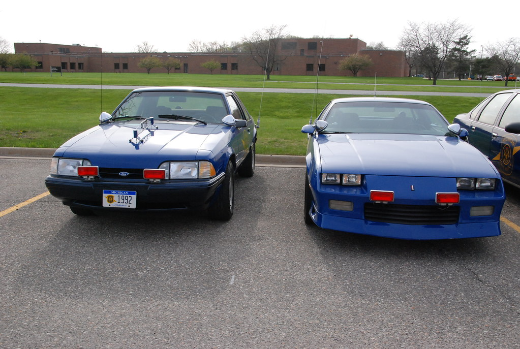 Michigan State Police cars -- 1992 Ford Mustang 5.0 and 19 ...