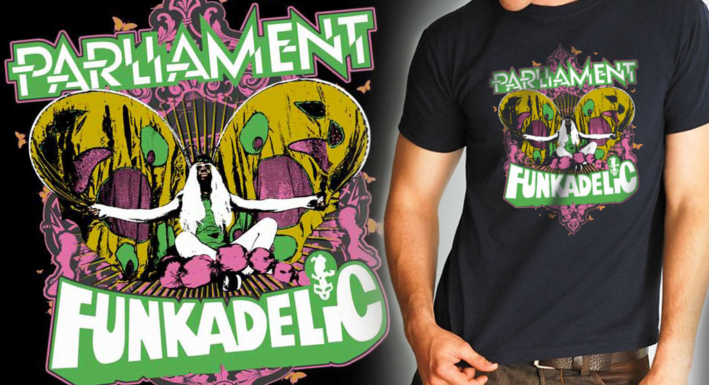 Parliament Funkadelic - Funky Butterfly Shirt : New tour ...