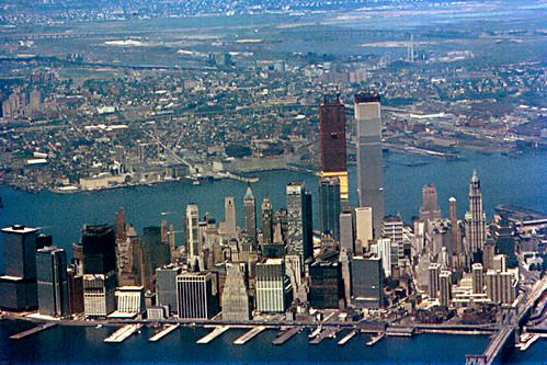 Lower Manhattan From Air 1971 Lower Manhattan From An