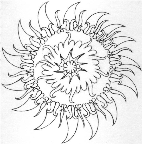 Psychedelic Coloring Book Pages