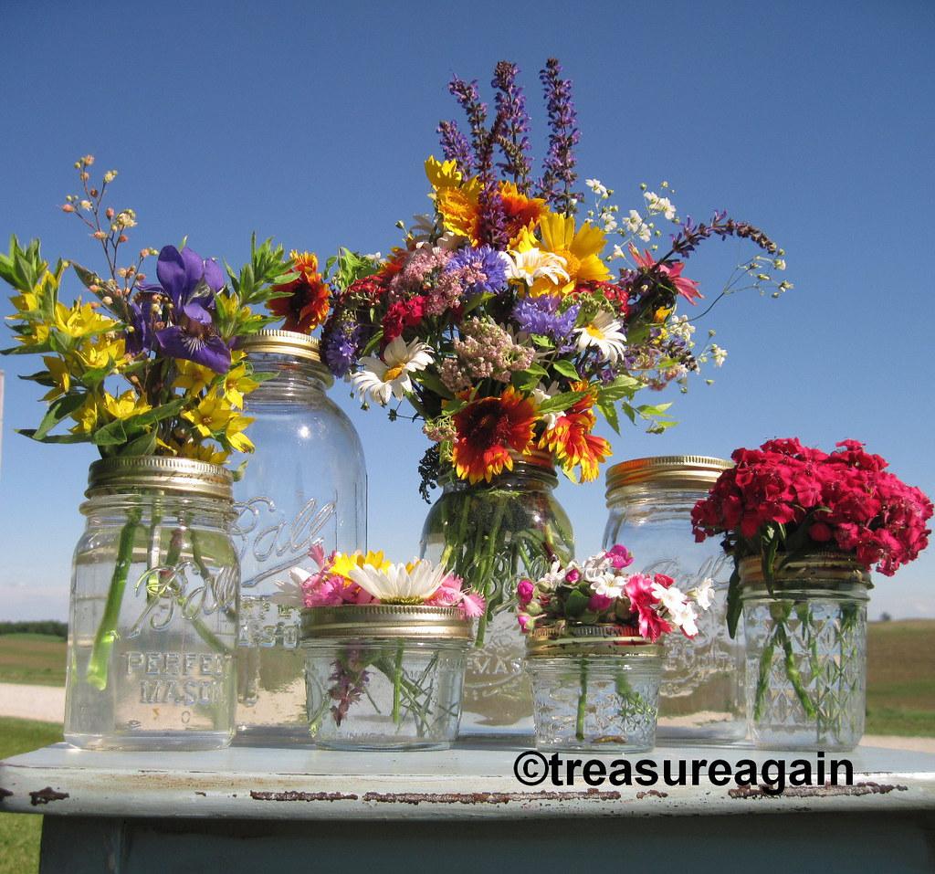 Ball Jar Mason Jar Flower Frog Vases- Clear 7 sizes | Flickr Jar Flower Vases on jar art, jar lamp, white flowers in vase, jar box, jar candles, jar decorations, jar small vase, blue flowers in a vase, jar chandelier, jar lights, jar flower centerpieces,
