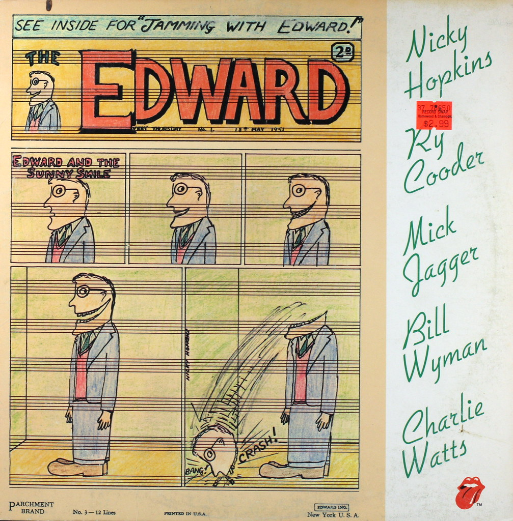 Nicky Hopkins Ry Cooder Mick Jagger Bill Wyman Charlie Watts Jamming With Edward
