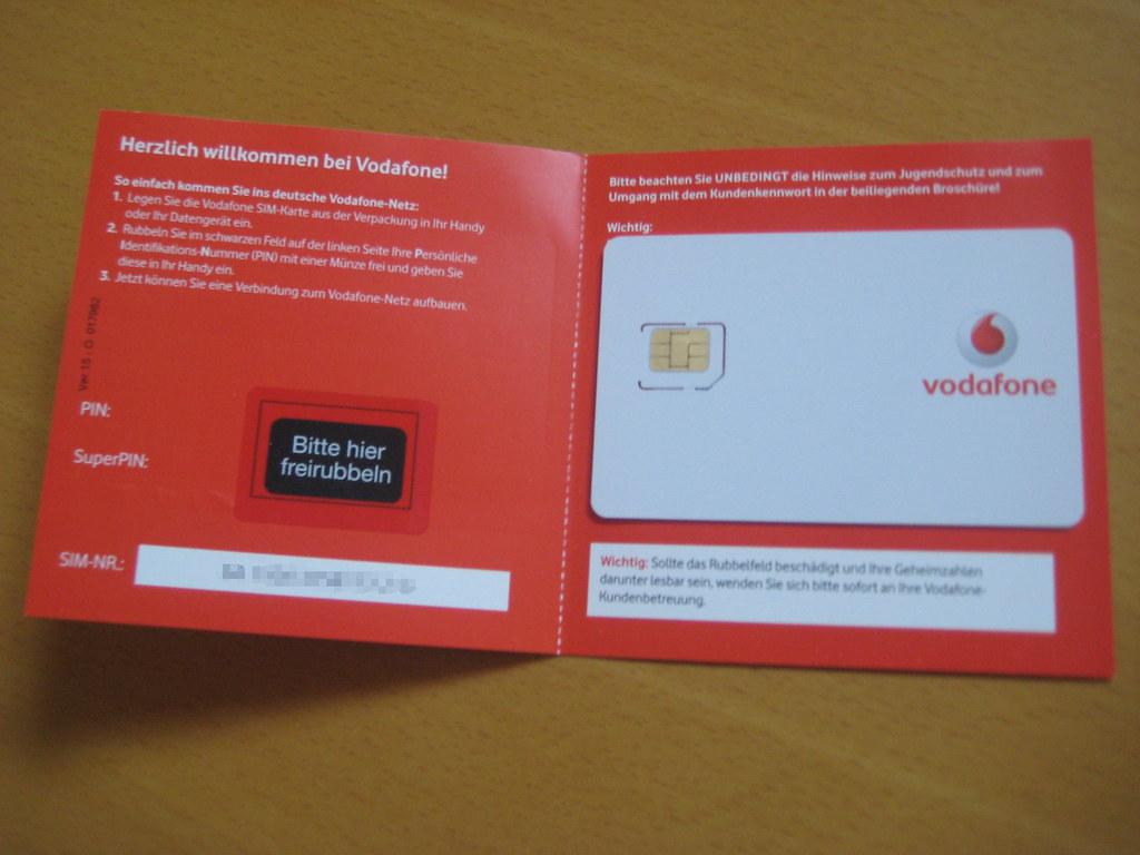 Vodafone Pin