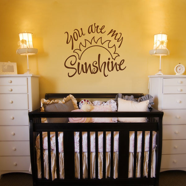 ... You are my Sunshine childrens wall sticker ideas | by  makingstatements.com