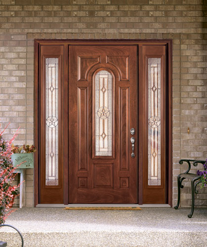 Feather River Door Fiberglass Entry Doors Mahogany Door