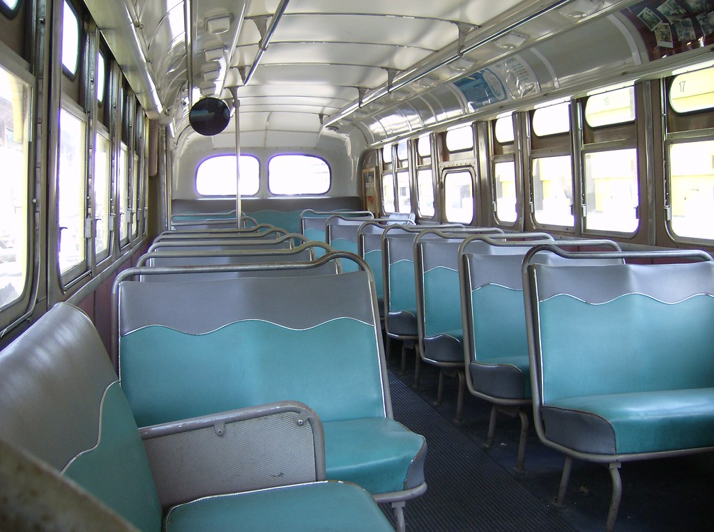 boston mta gm old look bus 2600 interior front to back flickr. Black Bedroom Furniture Sets. Home Design Ideas