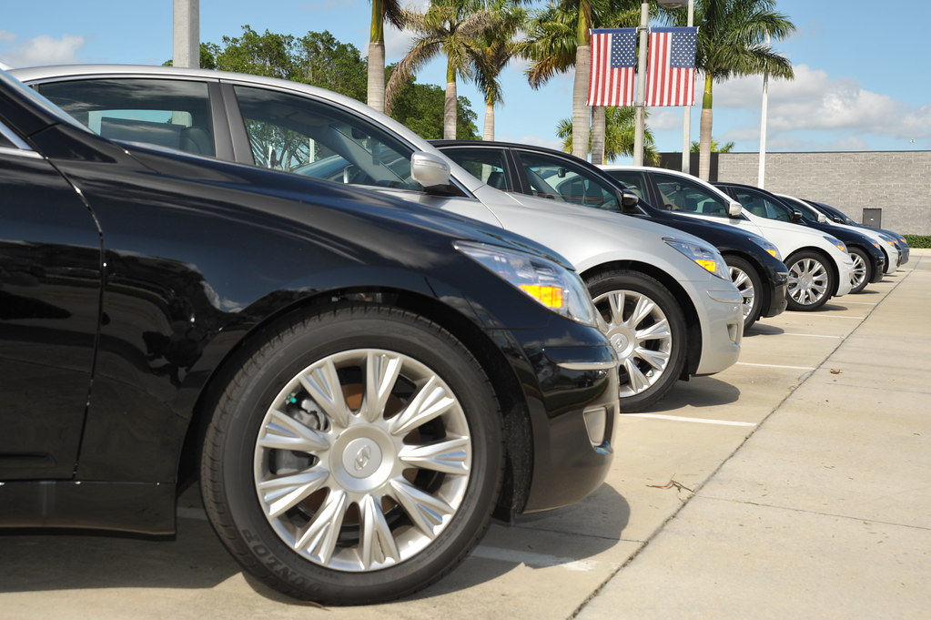 Car Sales USA | Cars are lined waiting for prospective buyer… | Flickr