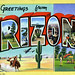 Greetings from Arizona - Large Letter Postcard