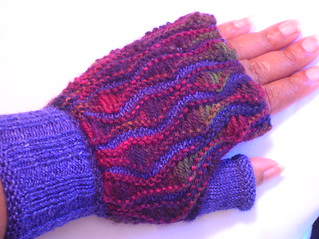 Drop Stitch Mitts #7 | by indigomuse