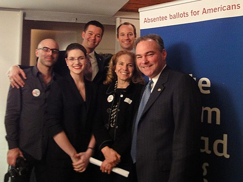 Tristan Zand, Elizabeth Clark-Polner, Michael Copping, Marcus Courtney, Caitlin Kraft Buchman and Governor Kaine.