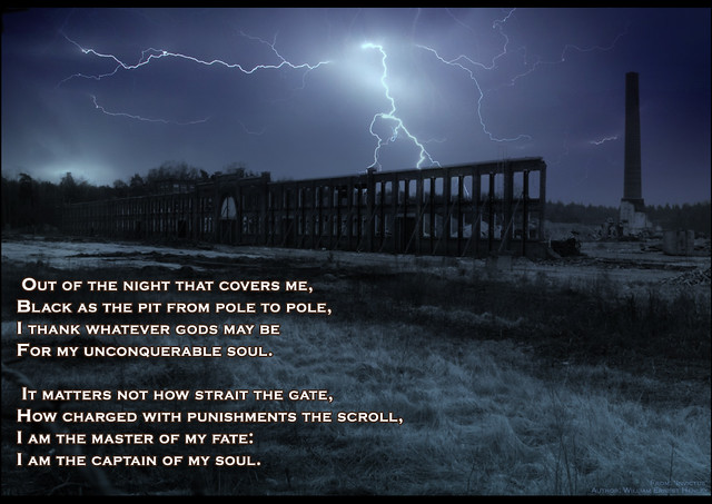 Poem of strength: Invictus | Excerpt from the short poem ...
