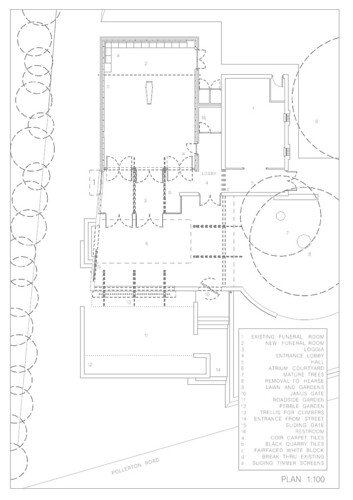 Funeral home floor plan formarchitecture flickr for Funeral home building plans