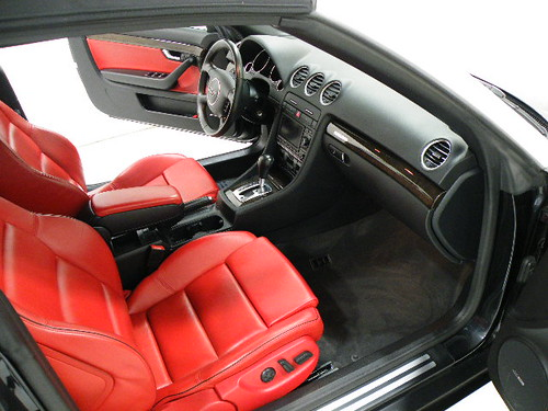 audi s4 convertible bright red leather seats audi s4 con flickr. Black Bedroom Furniture Sets. Home Design Ideas