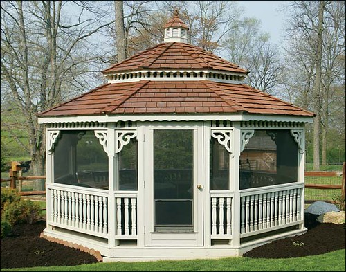 how to build a octagon gazebo roof