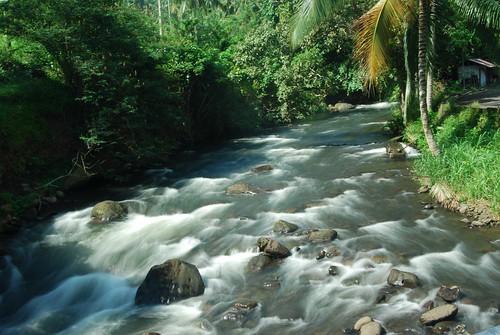 Sejernih air mengalir sungai di daerah Air Madidi