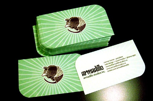 Armadillo Business Cards 2010 | by ctoverdrive