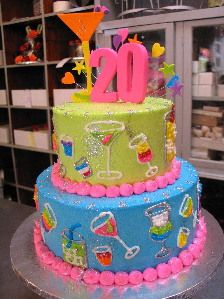 Birthday 2 Kg Cake Images : 2 tier cocktails theme 21st birthday cake 2 tier ...