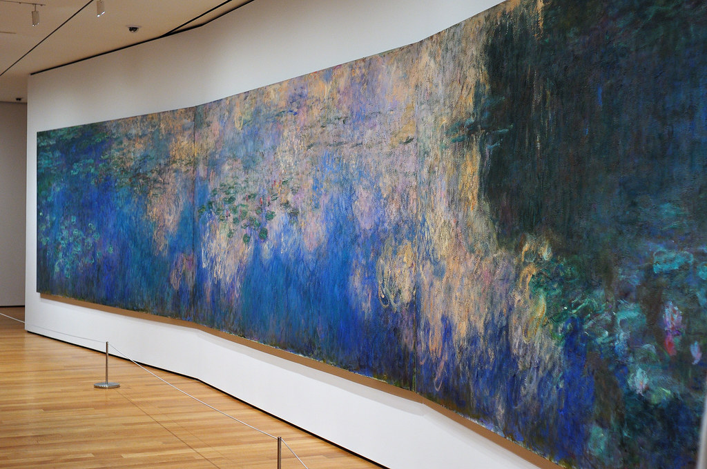 reflections of clouds on the water lily pond claude monet flickr. Black Bedroom Furniture Sets. Home Design Ideas