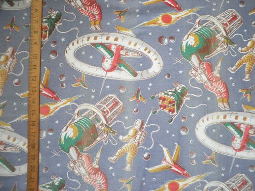 1950 39 s space man fabric thefabricofmylife flickr for 3d space fabric