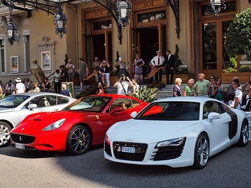 Monte Carlo Casino And Ferrari California And Audi R8 Flickr