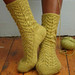 Lacy cable socks