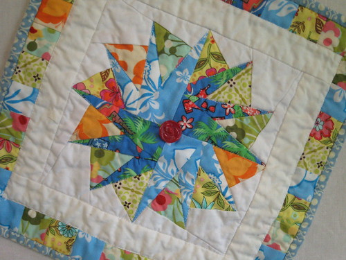 Finished Summer Mini Quilt | by Sew Chaos {Kristin}